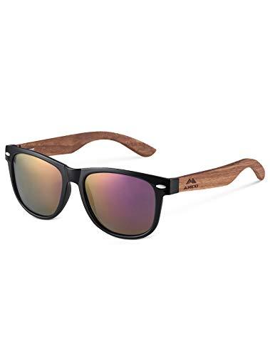 MIAROZ Herren & Damen Sonnenbrillen Original UV400 CAT 3 Unisex Sonnenbrille - Farben, Verspiegelt (Lila)
