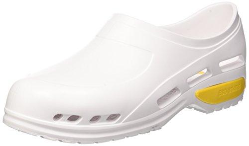 GIMA Scarpa professionale ultra leggera, zoccoli sanitari in gomma, mizura 40, colore bianco