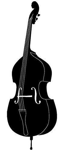 Samunshi® Wandtattoo Kontrabass Wandaufkleber Violoncello in 6 Größen und 19 Farben (13x40cm schwarz)