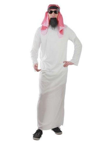 Foxxeo Kostm Scheich Araber Araberkostm Scheichkostm Grße (Einfachste Kostüm)