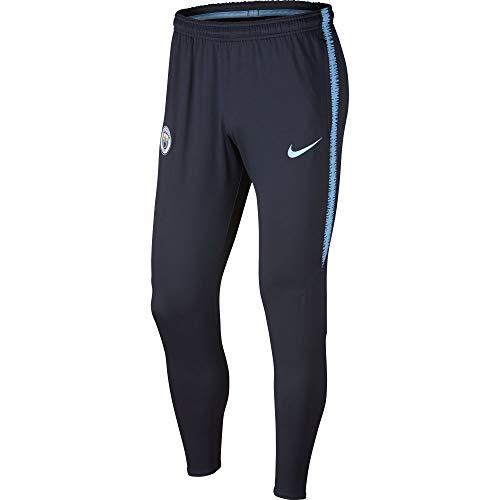 Nike Manchester City FC Dri-FIT Squad - Partes de Abajo de Ropa Deportiva para fútbol (Hombres, Pantalones, S, Azul, Imagen, Corte Slim)