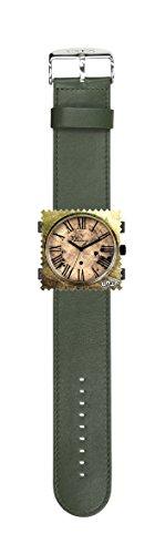 S.T.A.M.P.S. Stamps Uhr KOMPLETT - Zifferblatt Time Lord mit Lederarmband classic dunkelgrün
