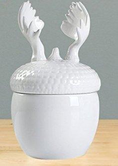 Ceramic Cansisters Cookie Jars, Reindeer Tea Storage Container, Clearance Sale