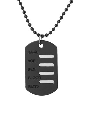 Voylla Men's Stainless Steel Dog Tags Pendant With Chain  available at amazon for Rs.349
