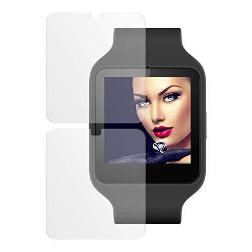 mtb more energy [2 Stück] Schutzfolie Soft TPU für Sony SmartWatch 3 SWR50 | Kratzschutz | Flexible Folie