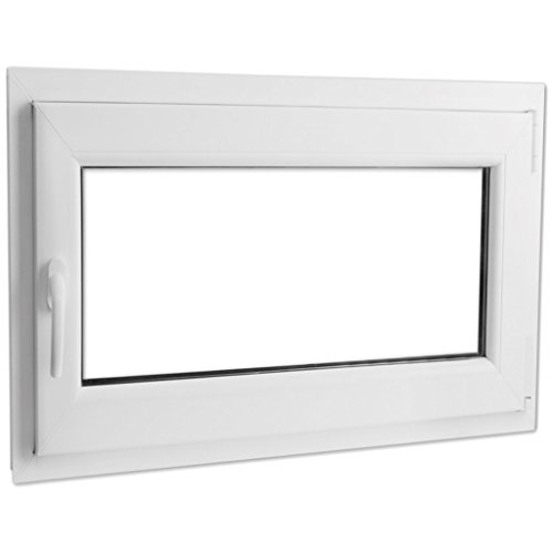 Preisvergleich Produktbild Festnight 3-in-1 PVC Fenster Drehkippfenster mit Zweifach Verglast Doppelverglasung-Fenster,  Linksseitig Griff 1000x700mm