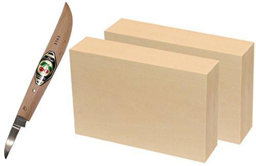 Preisvergleich Produktbild Corvus Kirschen-Schnitzmesser 500003 mit Schnitzblock 600567 2er Set