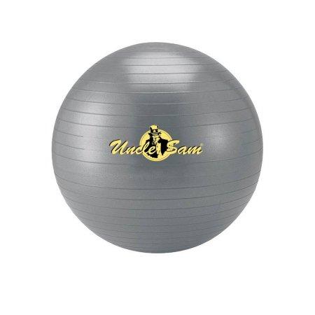 Uncle Sam Unisex- Erwachsene Gymnastikball, grau, 75cm