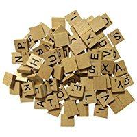 zhjz Holz Alphabet Buchstaben Board für DIY Craft (zufällige)