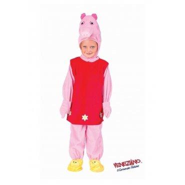 Kostüm Schweinchen Pina-Peppa-Größe: 4Jahre - Peppa Pig Kostüm Für Erwachsene