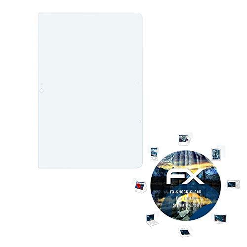 atFolix Schutzfolie kompatibel mit Fujitsu Stylistic Q736 Panzerfolie, ultraklare & stoßdämpfende FX Folie (2X)
