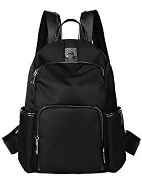 ALAMP Damen Rucksack Wanderrucksack Rucksacktasche mit 2 Außentache Für Camping Reise
