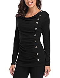 MISS MOLY Pull Femme Hiver Chic Manches Longues Jointif Couleur Tops Sweatshirt Blouse