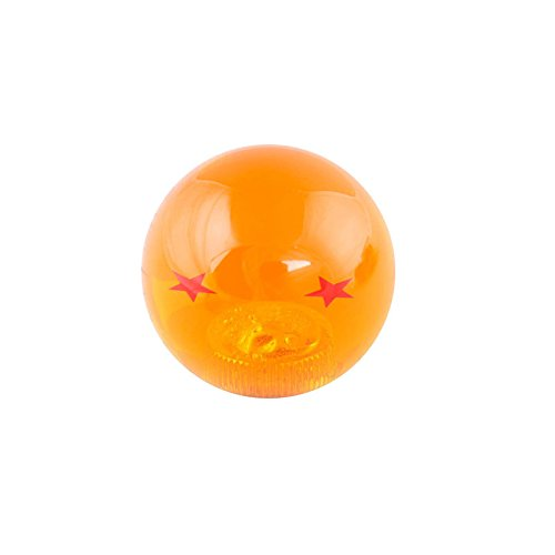 OUYAWEI Creativo Dragon Ball Universal Manual Gear Shift Knob Stick Acrílico Shifter Lever Head 2 Stars