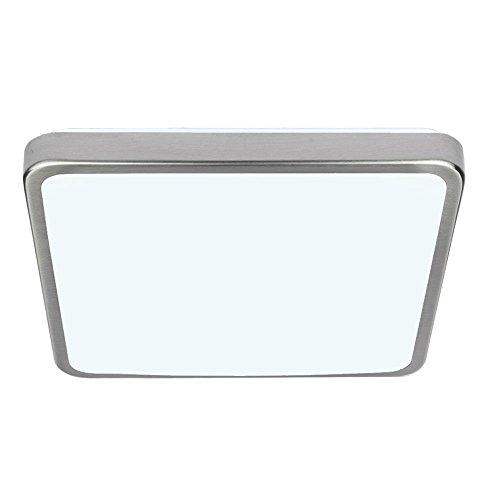 VINGO 12W LED Kaltweiß gebürstetem Metall Wohnraumleuchten Wand-Deckenleuchte Innenleuchte Beleuchtung Ultraslim Licht Schlafzimmer Esszimmer Empfangsbereichen [Energieklasse A -