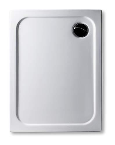 Bac de douche très plat - En acrylique - Rectangulaire - Blanc - Dimensions: 110 x 90 cm - Épaisseur: 2,5 cm