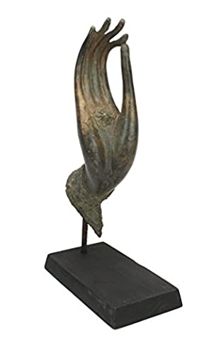 Bronze metallique vers le haut la main de Bouddha sur
