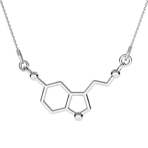 Collar con colgante de la serotonina en plata de ley 925