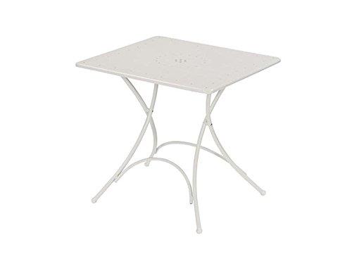Emu Table Jardin en Acier carré Pliable Pigalle 76 x 76 cm ameublement