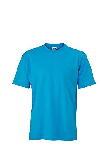JN747 Basic-T T-Shirt aus Single-Jersey Turquoise
