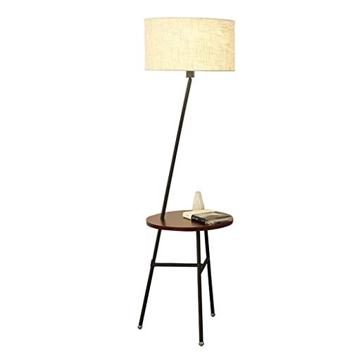 Classic Regal Couchtisch (Beste Wünsche Shop Stehleuchte-Nordic Vertikale Rack Regal Couchtisch Wohnzimmer Nachttischlampe Kreative Amerikanische Stehleuchte E27 Zugschalter)