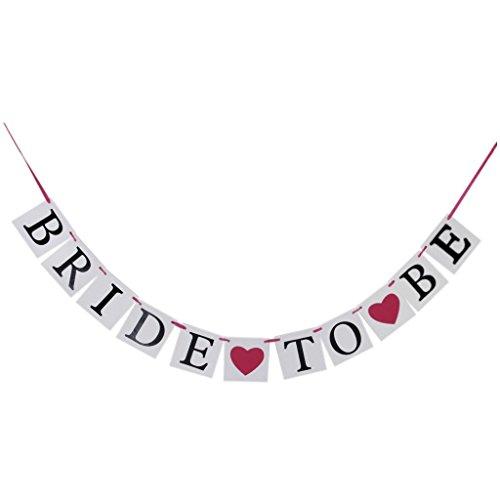 Asien & ldquo; Braut zu Sein & rdquo; Garland Banner Banner Dekoration für Hochzeit, Valentinstag, Bachelorette Party-Dekoration