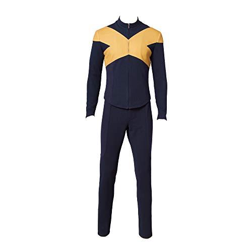 Glam Cos Men of X: Dark Phoenix - Yellow X Suit für Herren - Beast - Cyclops - Quicksilver - Nightcrawler - - XX-Large