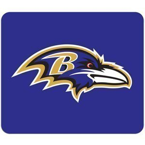 "Baltimore Ravens NFL Neoprene Purple Logo 8""x7"" Sports Fan Mouse Pad"