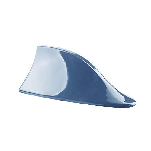 Demino Universal-Fisch-Fin-Abdeckung Antenne Car Top Auto Radio Signal Aerials Autoradio-Dachantennen Blau 17x7x6.7cm -