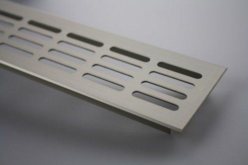 MS Beschläge ® Aluminium Lüftungsgitter Stegblech Heizungsdeckel 60mm x 1200mm verschiedene...