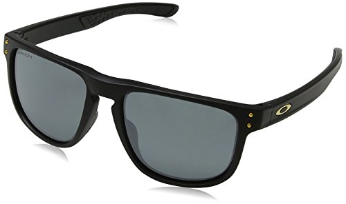 Oakley Herren Holbrook R 937709 Sonnenbrille, Schwarz (Matte Black), 55
