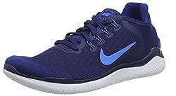 Nike Herren Free Rn 2018 Laufschuhe, Blau Void/Photo Blue/Indigo Force 403, 43 EU
