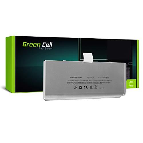 Green Cell® A1280 Laptop Akku für Apple MacBook 13 A1278 2008 (Li-Polymer Zellen 45Wh 10.8V Silber) -
