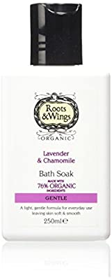 Roots and Wings Organic Gentle Lavender and Chamomile Bath Soak 250ml from Medichem International Ltd