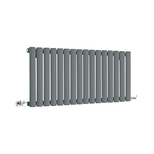Hudson Reed Vitality - Radiateur Design Horizontal Compact - Anthracite - 40 x 100cm