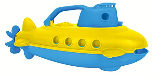 small foot 11302 Badespielzeug U-Boot, aus 100% recyceltem Kunststoff, ca. 27 x 14 x 12 cm