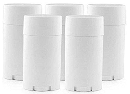 5Pcs / 15ml Leeren Kunststoff Lippenpflegestift Rohre Lip Balm Behälter Kosmetik Container mit Kappe,Weiß
