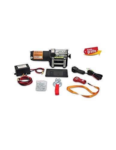 Cabrestante Electrico 12v Winch 1360Kg Cabestrante Con Mando de Distancia y Placa...