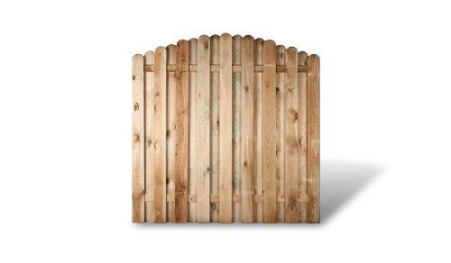 *6 x günstiges Holz Gartenzaun + Sichtschutzzaun im Maß 180 x 180 auf 160 cm (Breite x Höhe)*