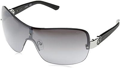 Guess Pilot, Gafas de Sol para Mujer, Plateado / Negro / Ral 9006, 52