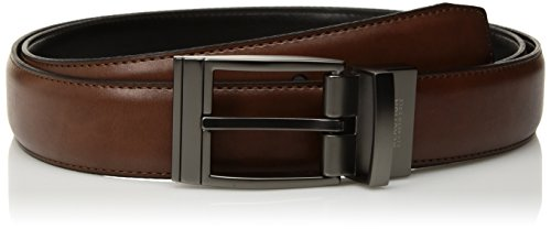 Kenneth Cole REACTION Men's Reversible Dress Belt, deep tan/Black, 44