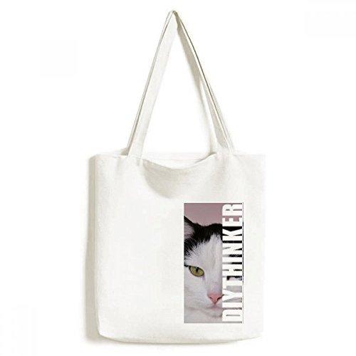 DIYthinker Katzen-Tier-Haustier-Tuxedo BilliKatze-Tasche Einkaufstasche Kunst Waschbar 33cm x 40 cm (13 Zoll x 16 Zoll) Mehrfarbig