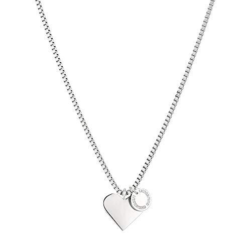 Liebeskind LJ-0503-N-45 Damen Collier Herz Edelstahl Silber 45 cm