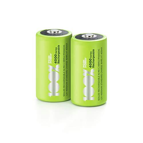 100{129047b4539f197edfc39c04cadc241e42fe90c39c666efbf38e6668a6443d71} PeakPower Akkus C/Baby, NiMH Akku-Batterien mit LSD Technologie, Ready2Use, bereits vorgeladen, Typ Babyzelle HR14 wiederaufladbar, Kapazität 4000mAh, 1,2V (1,2 Volt) (2 Stück)