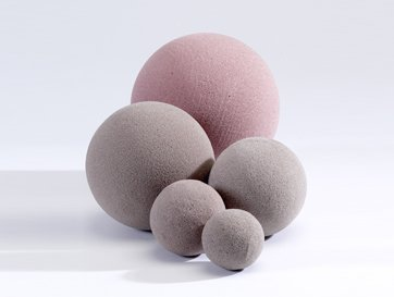 5 x Oasis SEC 12cm Round Sphere Ball Dry Foam for Silk Artificial Dried Flowers Florist Floral Craft Floristry Weddings Topiary Designs & Displays by EFS - Ball Topiary Silk