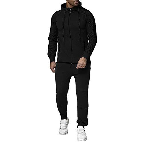 Setsail Herren Herbst Trend Gradient Zipper Print Sweatshirt Top Hosen Sets Sport Anzug Trainingsanzug Komfortanzug Persönlichkeit Zweiteiliges Sets Geeignet für Indoor- und Outdoor-Aktivitäten