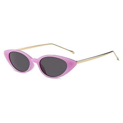 CHENGZI Kleine Cat Eye Sonnenbrille Frauen Halb Metall Schwarz Rot Grün Oval Sonnenbrille Für...