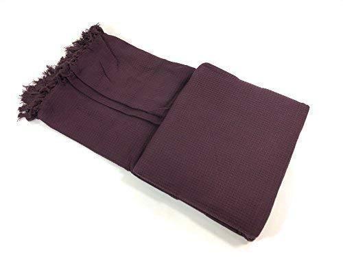 Wabe Waffel lila gewebte 100% Baumwolle mit Fransen einzeln Überwurf Decke 70