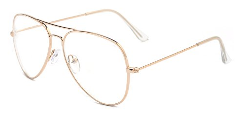 Outray-Classic-Aviator-Metal-Frame-Clear-Lens-Glasses