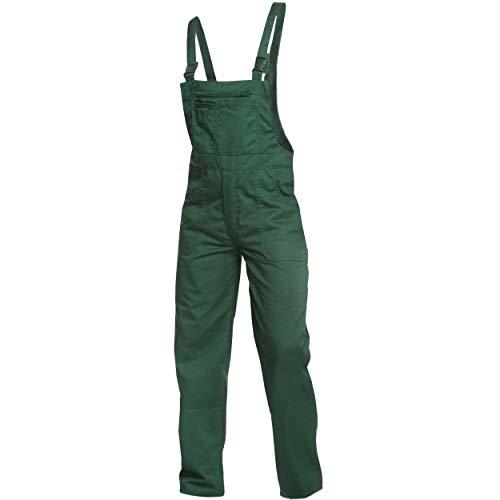 Sweat Life Charlie Barato® Gärtnerhose - waschfesteLatzhose grün - robuste Arbeitshose (54)